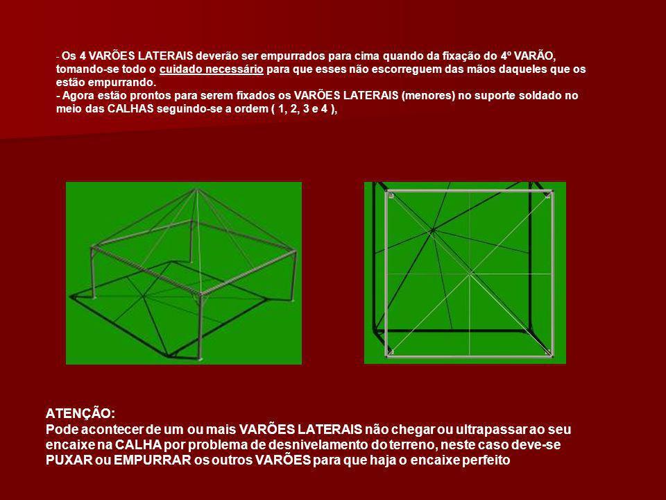 ETAPA 3 - Finalmente a estrutura está pronta para receber a LONA.