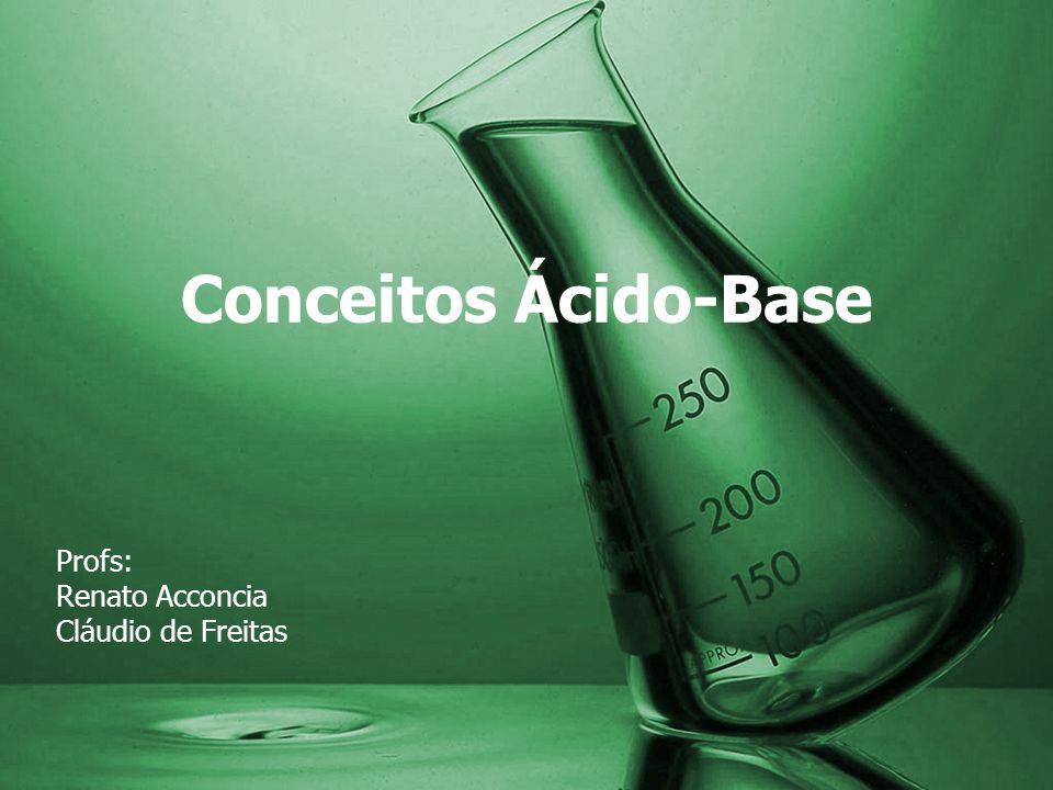Prof: Renato FORÇAS DE ÁCIDOS E BASES Um ácido é tanto mais forte quanto mais se ioniza em água Constante de ionização do ácido (= Ka) Quanto mais forte for um ácido mais fraca será sua base conjugada e vice- versa.