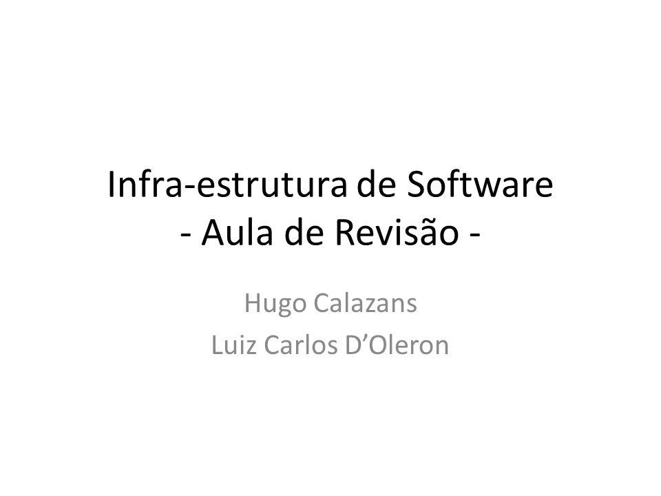 Infra-estrutura de Software - Aula de Revisão - Hugo Calazans Luiz Carlos DOleron