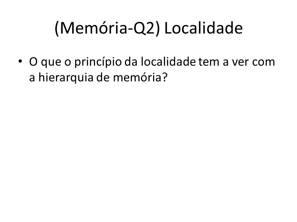 (Memória-Q3-Q4) Relocação Para que a relocação de código em memória é usada.