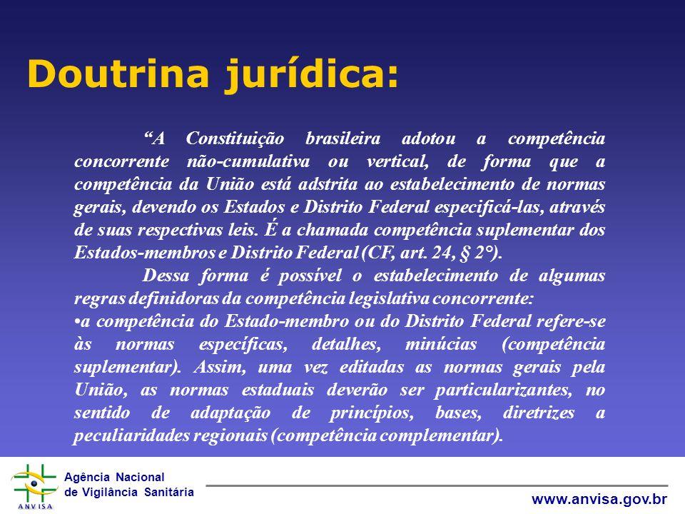 Agência Nacional de Vigilância Sanitária www.anvisa.gov.br O art.