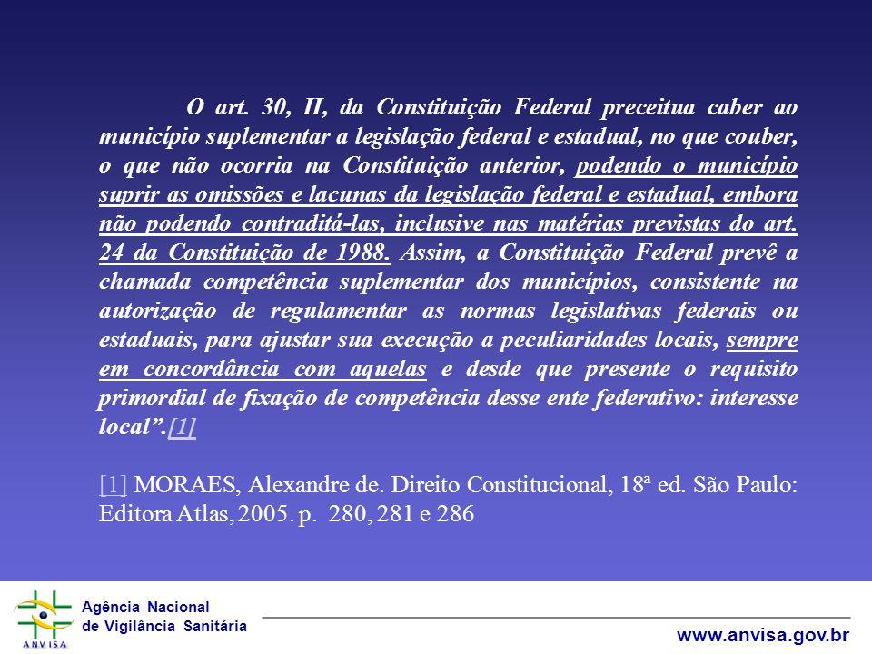Agência Nacional de Vigilância Sanitária www.anvisa.gov.br Repartição das Competências legislativas.