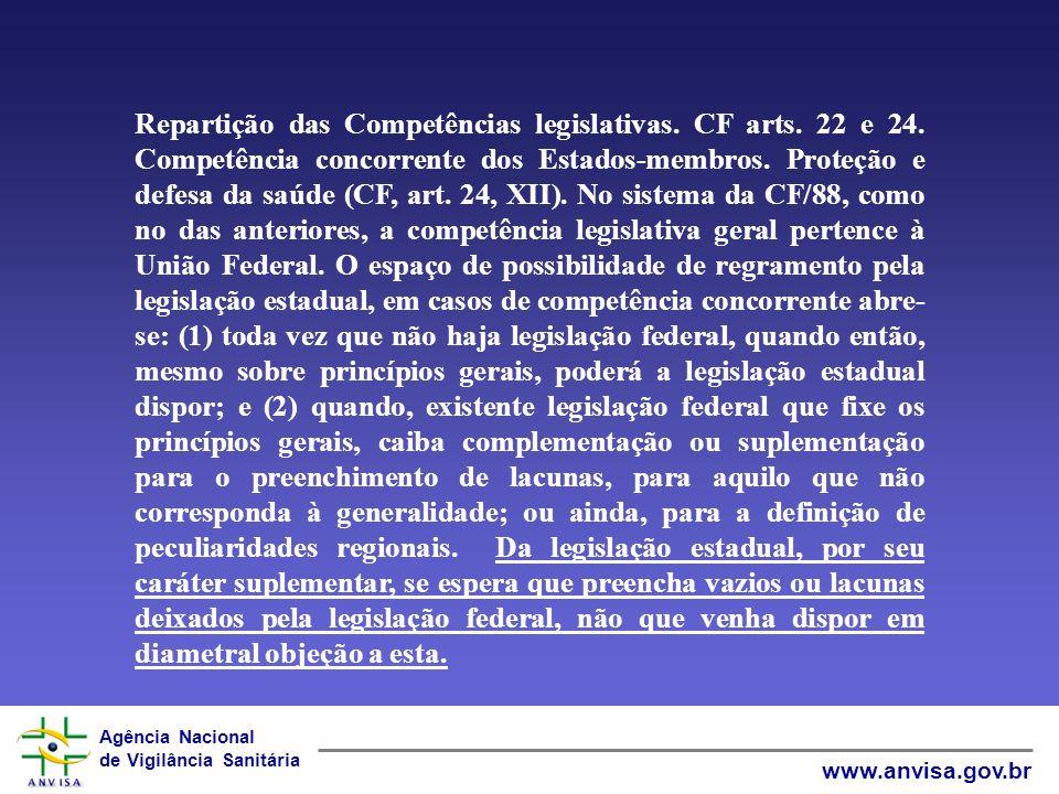 Agência Nacional de Vigilância Sanitária www.anvisa.gov.br JURISPRUDÊNCIA DO STF – Supremo Tribunal Federal ADI 2875 / DF - DISTRITO FEDERAL - EMENTA: LEI DISTRITAL.