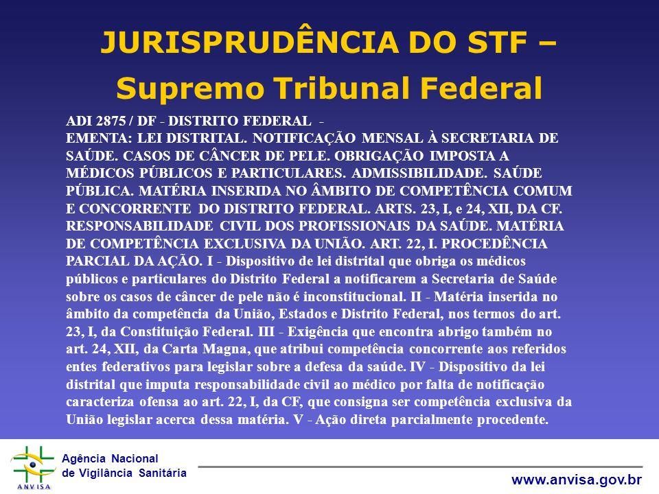 Agência Nacional de Vigilância Sanitária www.anvisa.gov.br ADI 3645 / PR - PARANÁ AÇÃO DIRETA DE INCONSTITUCIONALIDADE Relator(a): Min.