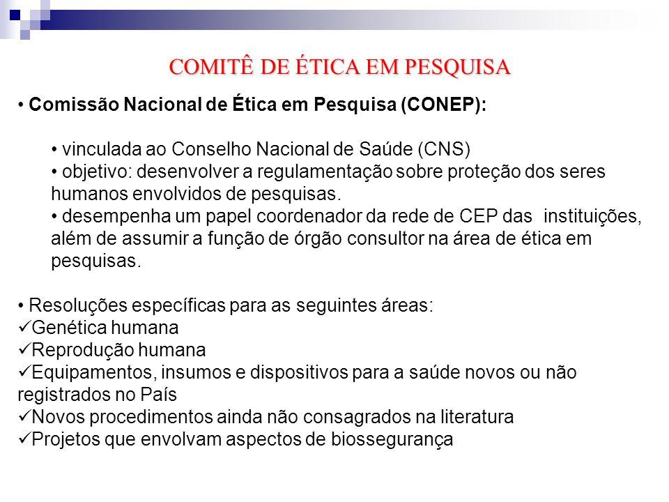 Os CEPs são comitês institucionais.