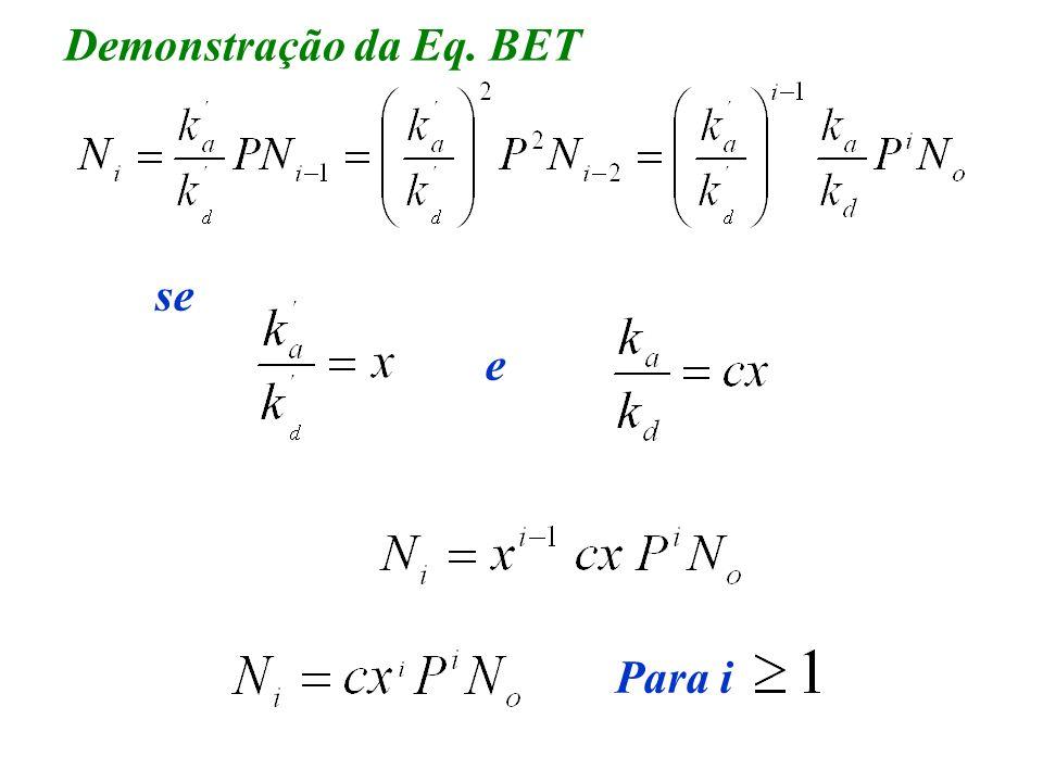 Demonstração da Eq. BET se Para i e