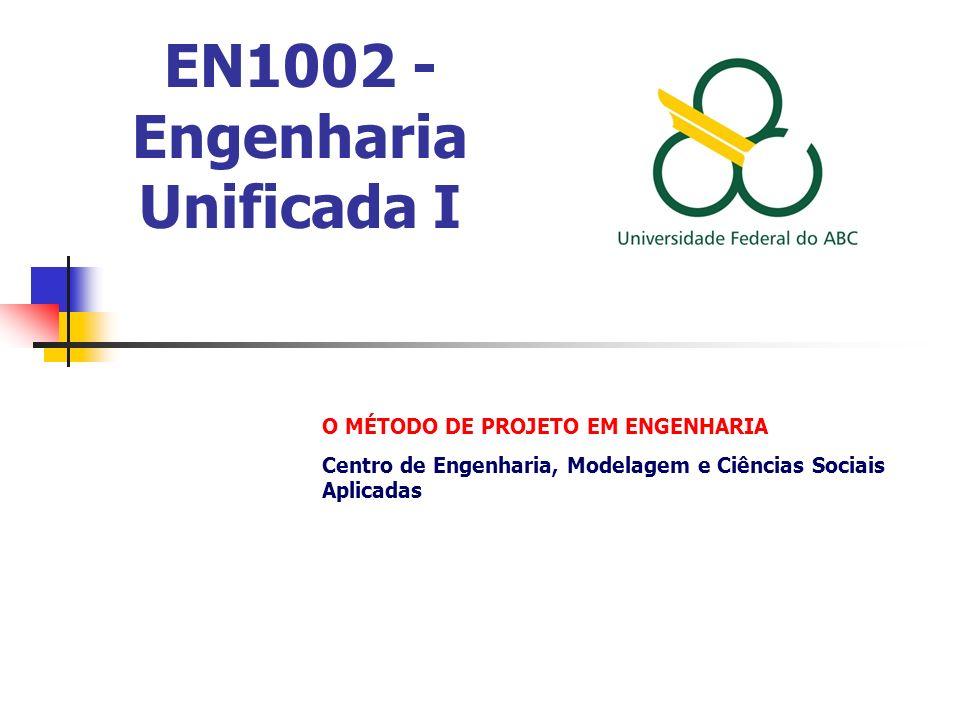 EN1002 - Engenharia Unificada I O MÉTODO DE PROJETO EM ENGENHARIA Centro de Engenharia, Modelagem e Ciências Sociais Aplicadas