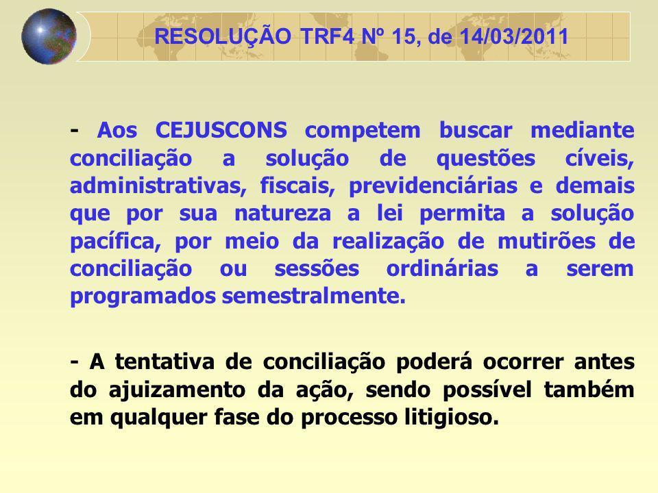 -A utilização do centro de conciliação como meio para solução de litígio não prejudica futura tentativa de conciliação pelo magistrado condutor do feito nos dois graus de jurisdição.