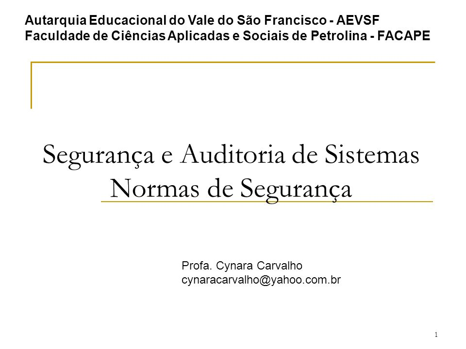 32 Normas de Segurança da Informação Visão Geral da família ISO 27000 Número: ISO IEC 2nd CD 27006.