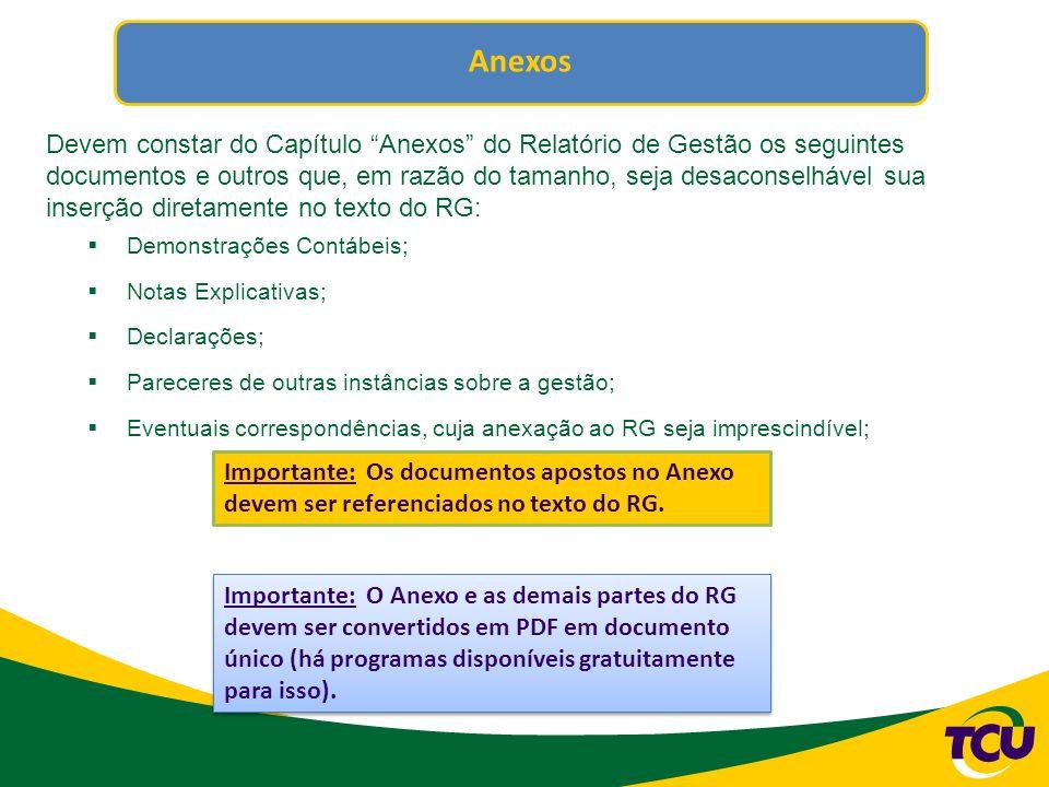 Formatação do Relatório de Gestão Além da estrutura já mencionada em slides anteriores, o formato do Relatório de Gestão é, também, ponto fundamental a ser observado pela Unidade, pois...