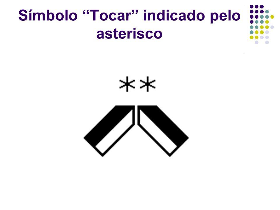 Símbolo Tocar indicado pelo asterisco