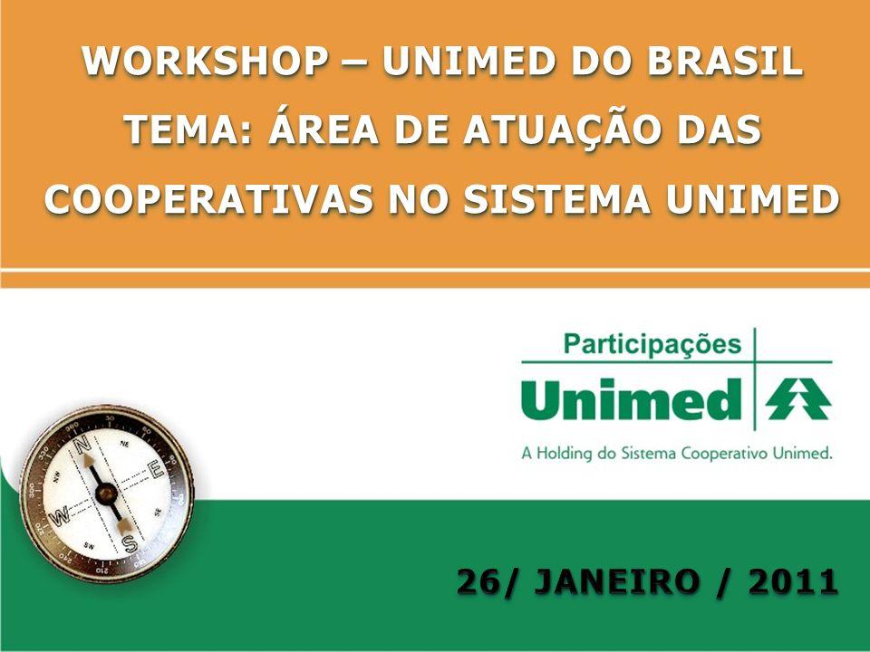 WORKSHOP – UNIMED DO BRASIL TEMA: ÁREA DE ATUAÇÃO DAS COOPERATIVAS NO SISTEMA UNIMED WORKSHOP – UNIMED DO BRASIL TEMA: ÁREA DE ATUAÇÃO DAS COOPERATIVA