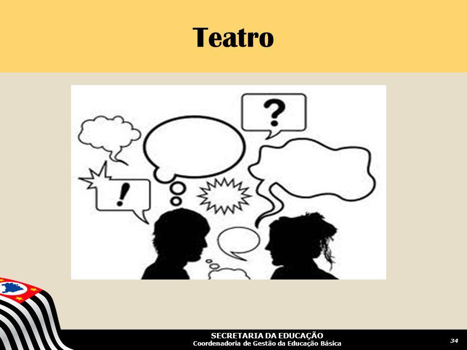 SECRETARIA DA EDUCAÇÃO Coordenadoria de Gestão da Educação Básica Teatro 34
