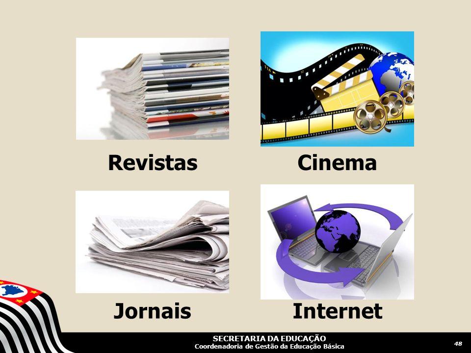 SECRETARIA DA EDUCAÇÃO Coordenadoria de Gestão da Educação Básica Revistas Jornais Cinema Internet 48
