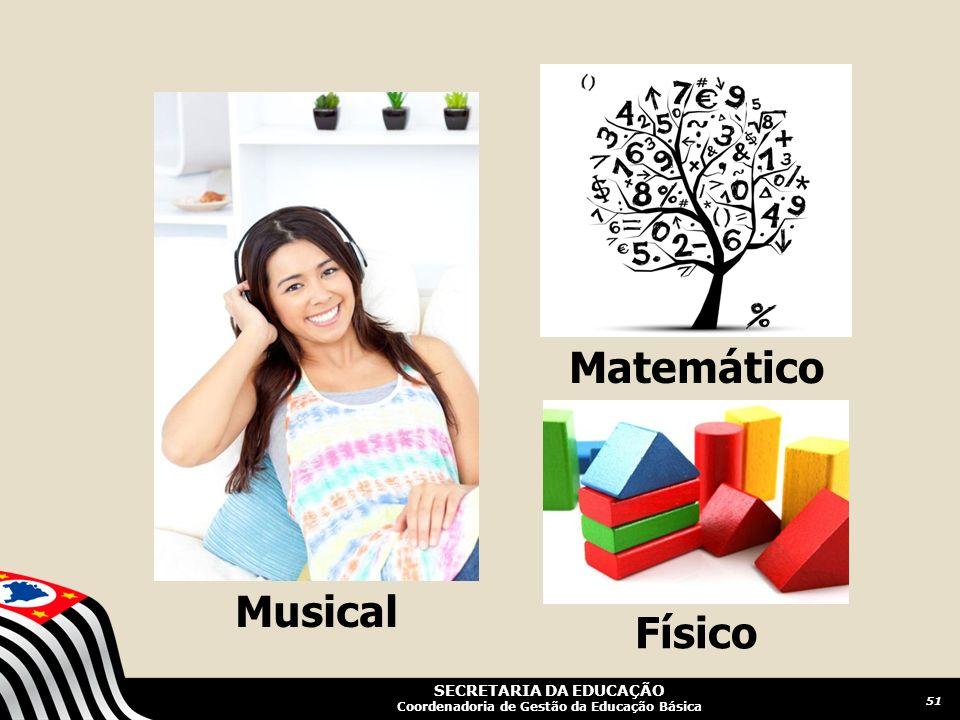 SECRETARIA DA EDUCAÇÃO Coordenadoria de Gestão da Educação Básica Musical Matemático Físico 51