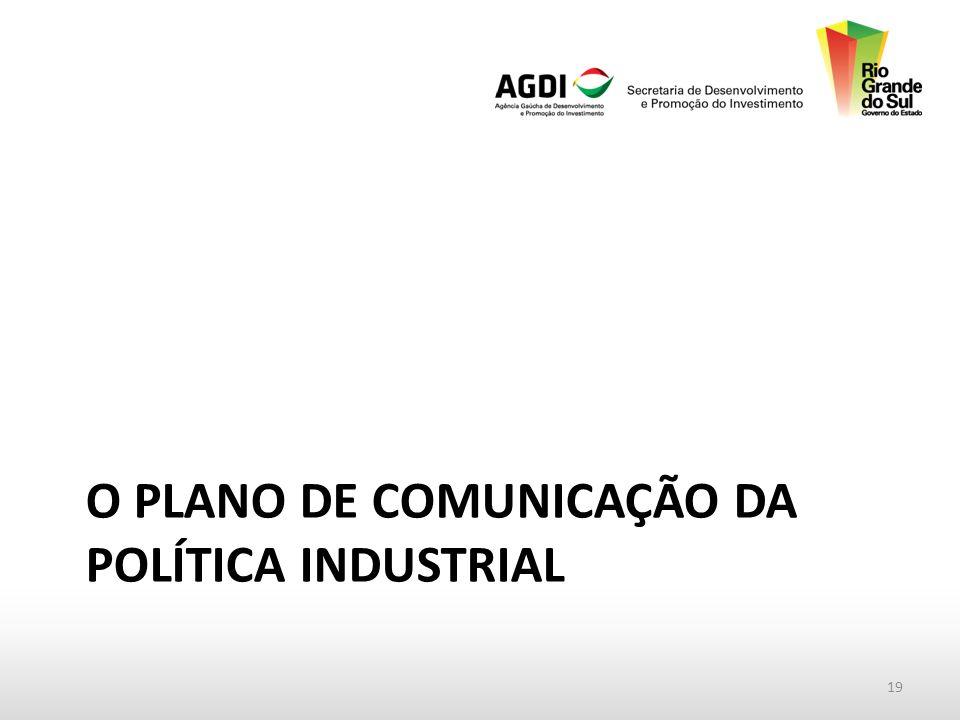 O PLANO DE COMUNICAÇÃO DA POLÍTICA INDUSTRIAL 19