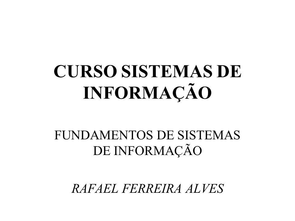 CURSO SISTEMAS DE INFORMAÇÃO FUNDAMENTOS DE SISTEMAS DE INFORMAÇÃO RAFAEL FERREIRA ALVES