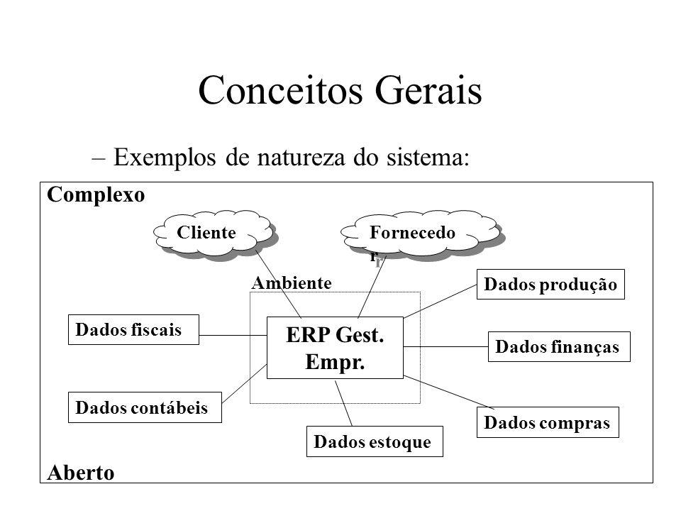 –Exemplos de natureza do sistema: Conceitos Gerais ERP Gest.