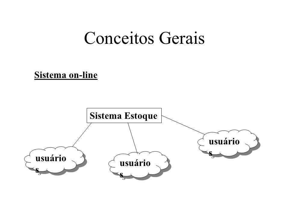 Conceitos Gerais Sistema Estoque usuário s Sistema on-line