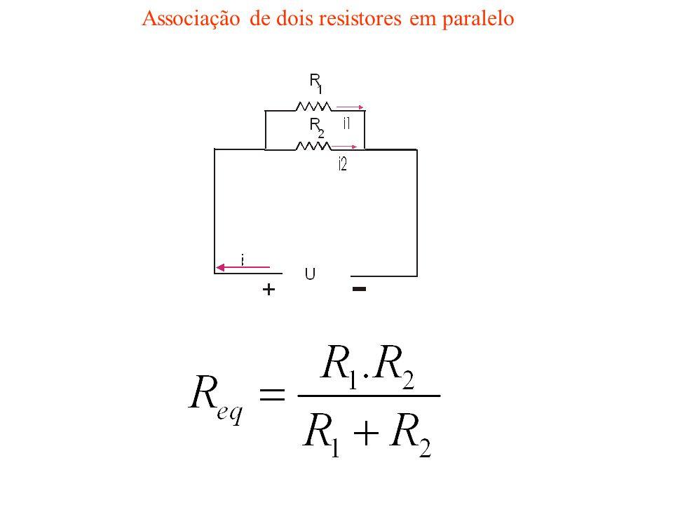 Associação de dois resistores em paralelo