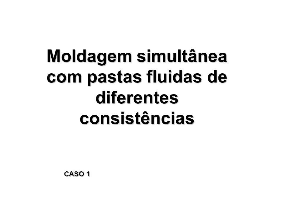 Moldagem simultânea com pastas fluidas de diferentes consistências CASO 1
