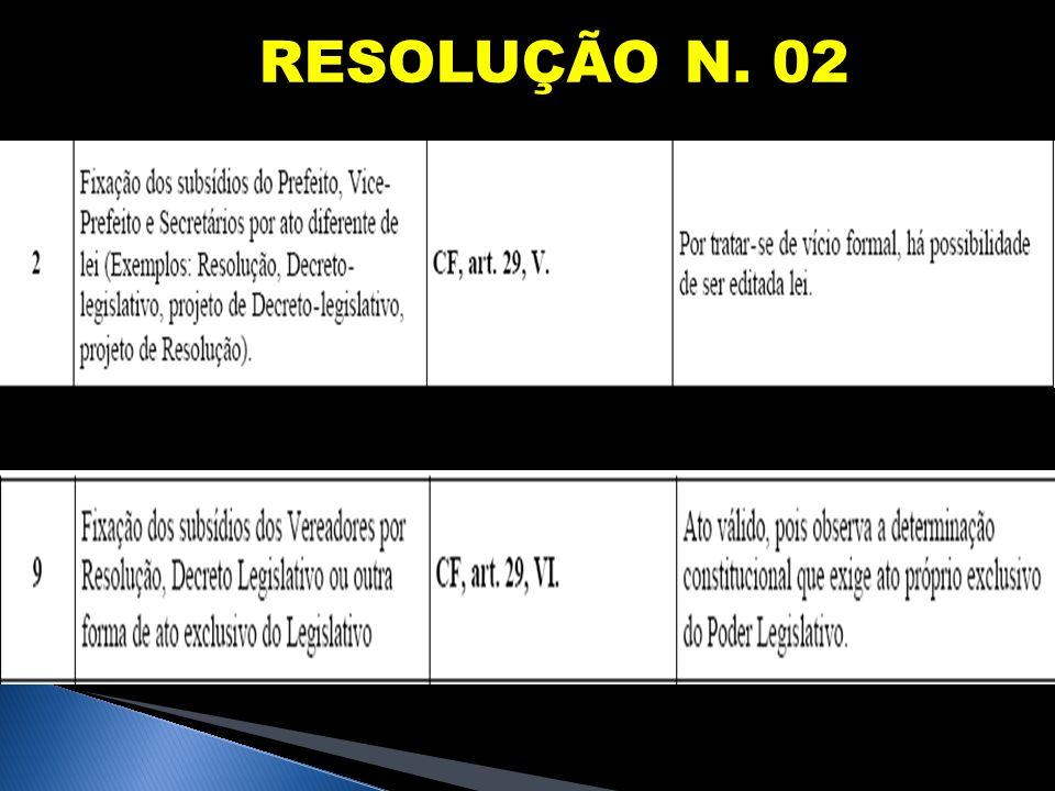 RESOLUÇÃO N. 02