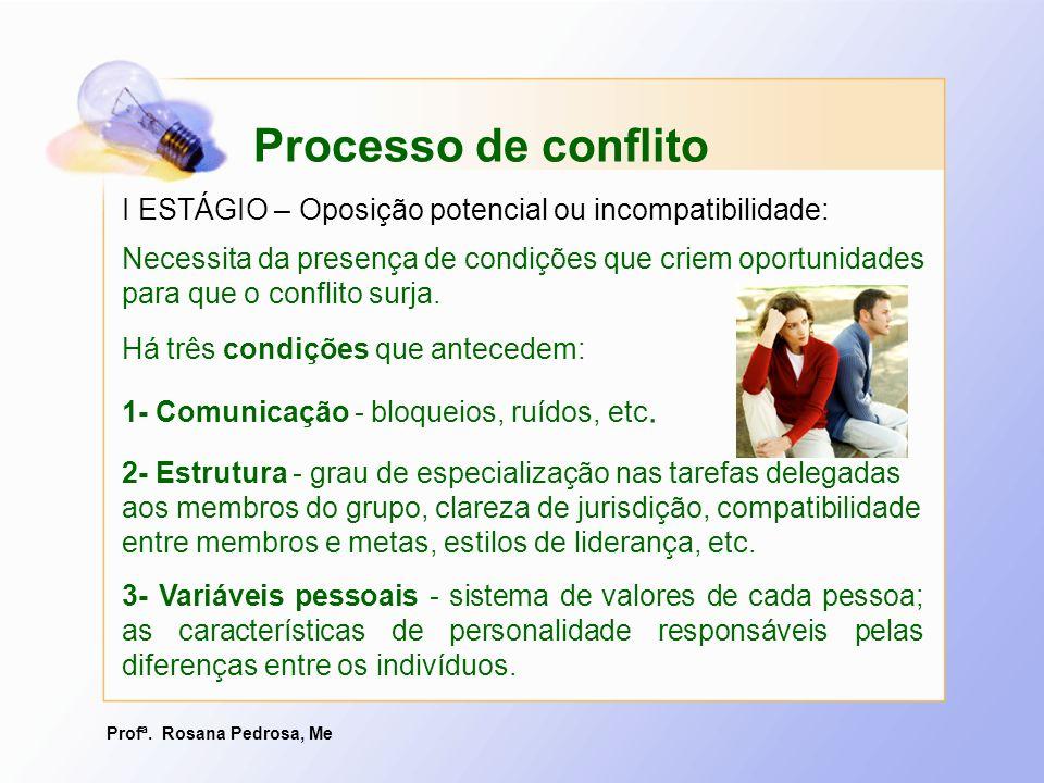 Profª. Rosana Pedrosa, Me 3- Variáveis pessoais - sistema de valores de cada pessoa; as características de personalidade responsáveis pelas diferenças