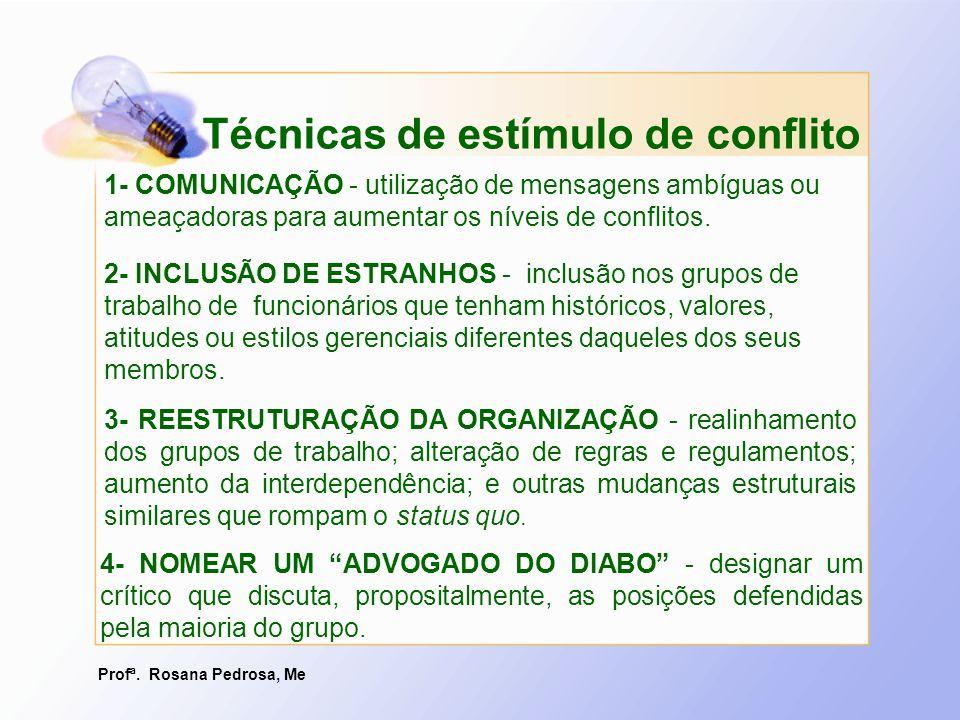Profª. Rosana Pedrosa, Me 3- REESTRUTURAÇÃO DA ORGANIZAÇÃO - realinhamento dos grupos de trabalho; alteração de regras e regulamentos; aumento da inte