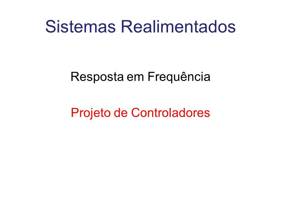 Sistemas Realimentados Resposta em Frequência Projeto de Controladores