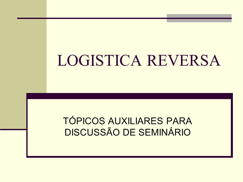 LOGISTICA REVERSA TÓPICOS AUXILIARES PARA DISCUSSÃO DE SEMINÁRIO