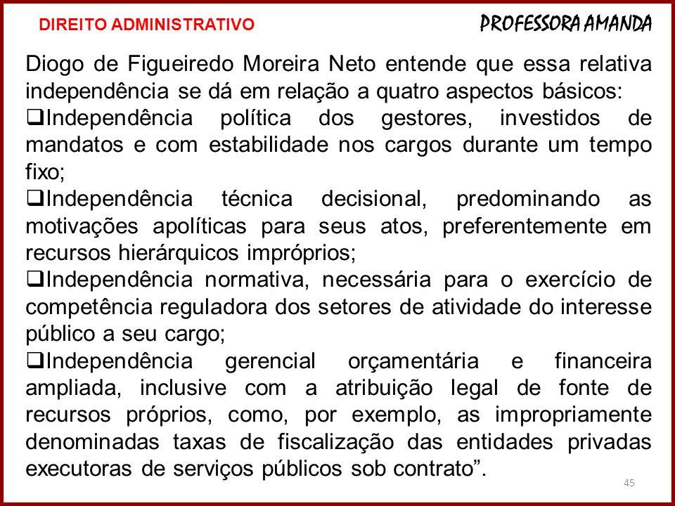 45 Diogo de Figueiredo Moreira Neto entende que essa relativa independência se dá em relação a quatro aspectos básicos: Independência política dos ges