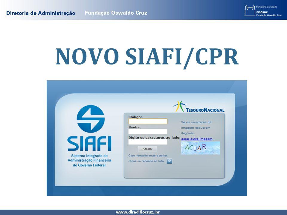 NOVO SIAFI/CPR