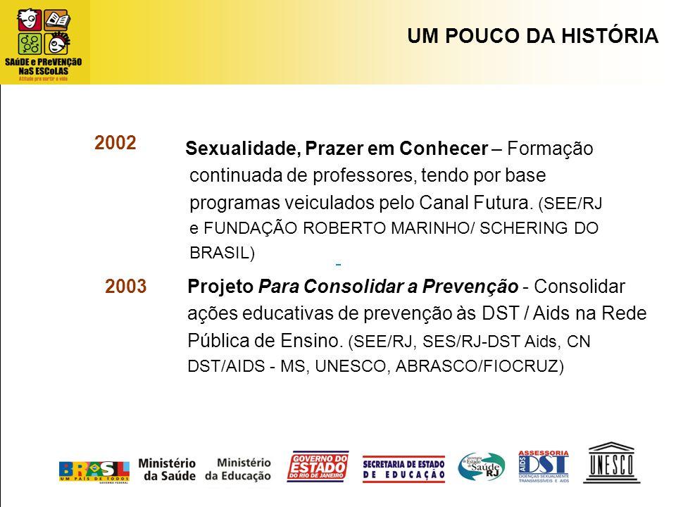Projeto Para Consolidar a Prevenção - Consolidar ações educativas de prevenção às DST / Aids na Rede Pública de Ensino. (SEE/RJ, SES/RJ-DST Aids, CN D