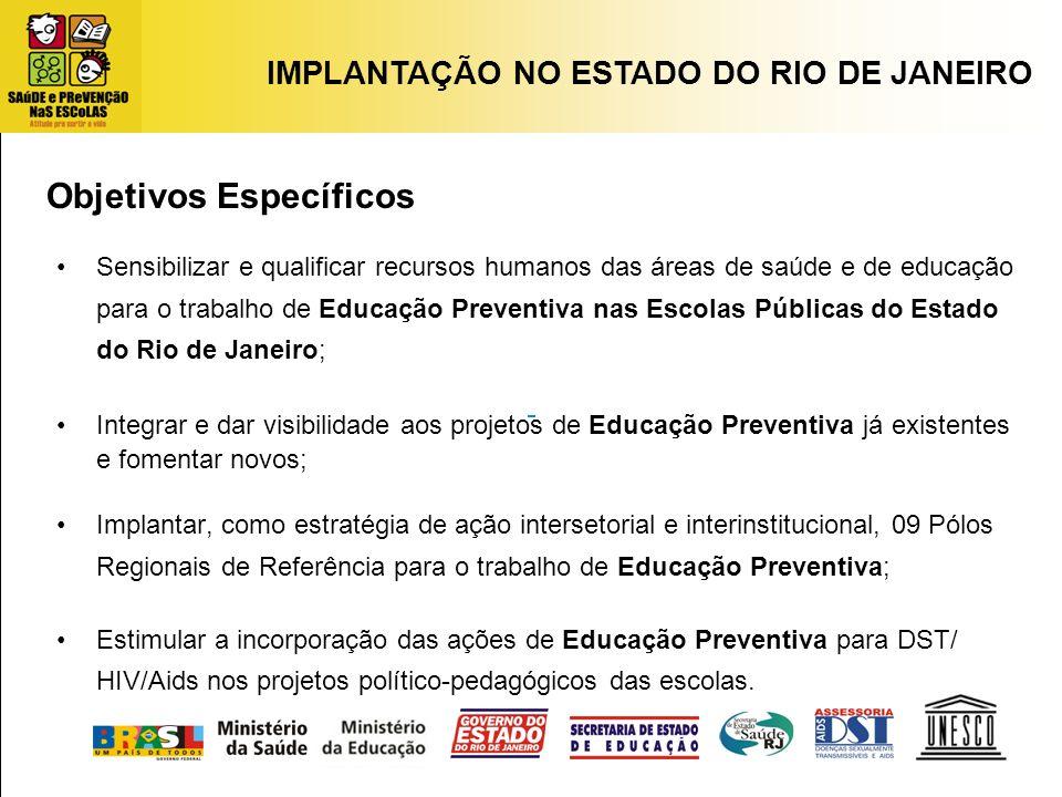 Sensibilizar e qualificar recursos humanos das áreas de saúde e de educação para o trabalho de Educação Preventiva nas Escolas Públicas do Estado do R