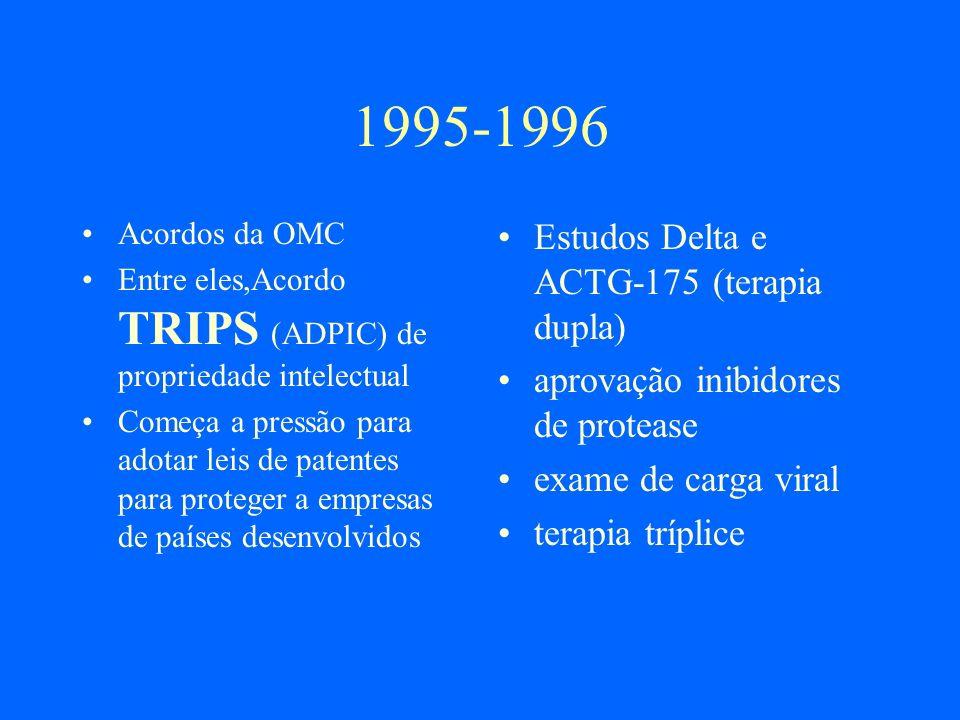 Fórum Comunitário da A Latina e Caribe em HIV-AIDS (Rio de Janeiro,5 e 6 de novembro de 2000) As pessoas e organizações reunidas no Fórum exigimos ao governo dos Estados Unidos de América retirar a reclamação contra as leis de patentes da Argentina e do Brasil apresentadas perante a Organização Mundial do Comércio OMC.