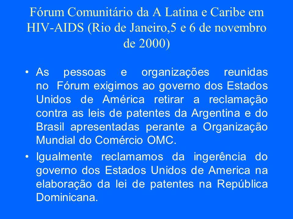2001 Março: Passeata frente ao Consulado dos EUA em SP.