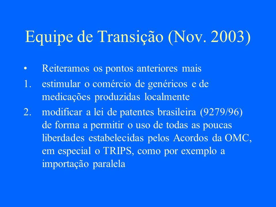 Reforma da Lei Brasileira (I) É necessário simplificar o processo desta licença Sobre tudo em casos de uso público não comercial, como no nosso país no SUS E também que qualquer cidadão possa requerer por motivos de abuso de poder econômico, ou de falta de acesso pelas pessoas