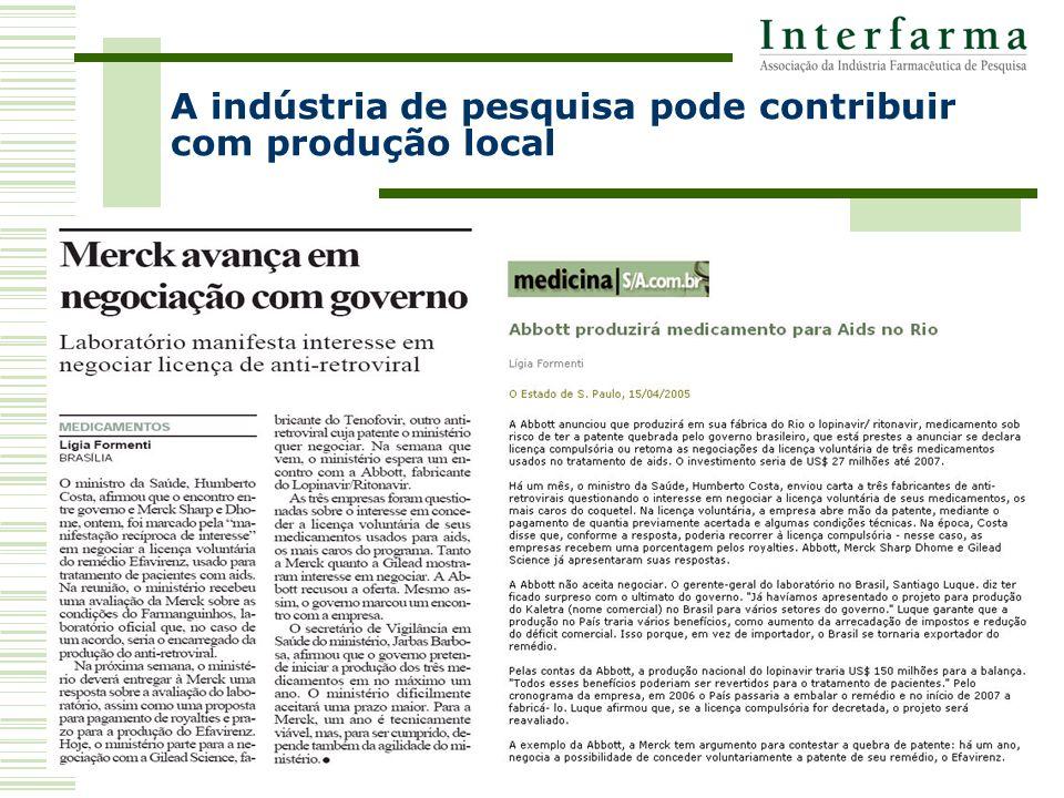 A indústria de pesquisa pode contribuir com produção local
