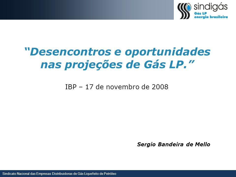 Sindicato Nacional das Empresas Distribuidoras de Gás Liquefeito de Petróleo Matriz Energética – Visão 2015 O ganho de espaço na matriz energética e a contribuição para a sociedade estão refletidos na Visão 2015 do Gás LP - O Sindigás tem papel chave de coordenação para atingir este objetivo Gás LP é um combustível produzido no Brasil, moderno, competitivo e ecológico que contribui para o desenvolvimento da sociedade nas residências, no transporte, no comércio, na indústria e na agropecuária Posicionamento Alvo Participação acima de 4,5% na matriz energética* através da diferenciação e diversificação do uso Visão 2015 do Gás LP Coordenar esforços para o amadurecimento do setor de Gás LP no Brasil, buscando posicionamento relevante deste combustível na sociedade Missão do Sindigás