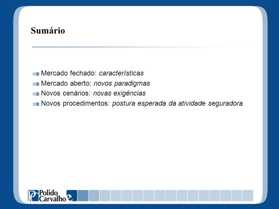 Mercado fechado: características Código Comercial 1850 Sociedade brasileira - Imoralidade alguém lucrar com a morte.