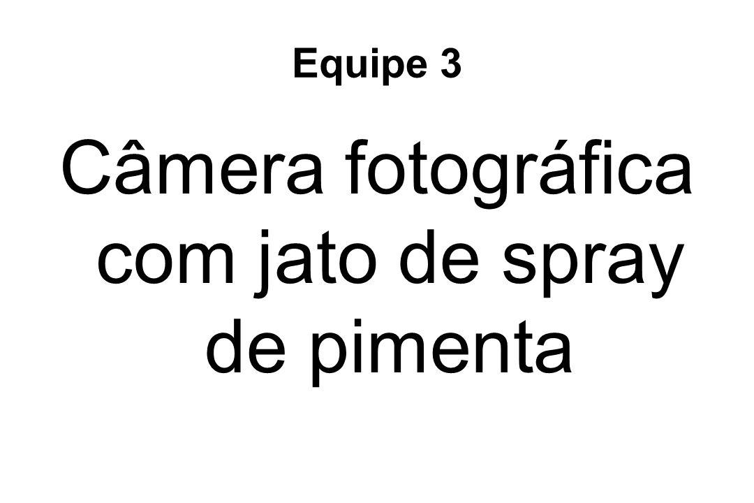 Equipe 3 Câmera fotográfica com jato de spray de pimenta