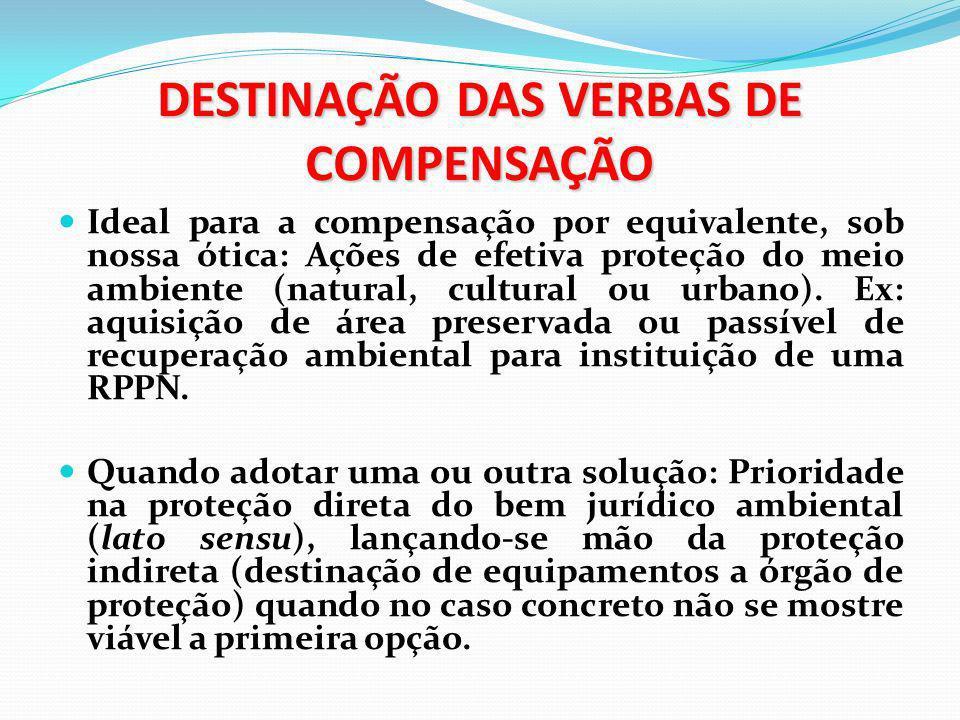 LIMITES À COMPENSAÇÃO A compensação não é substituta da obrigação de reparar o dano !!!!!!.