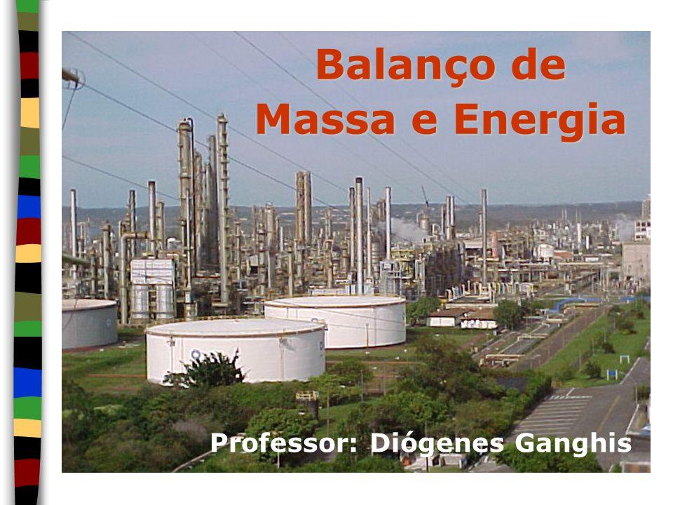 Balanço de Massa e Energia Professor: Diógenes Ganghis