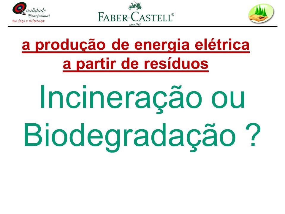 a produção de energia elétrica a partir de resíduos Incineração ou Biodegradação ?