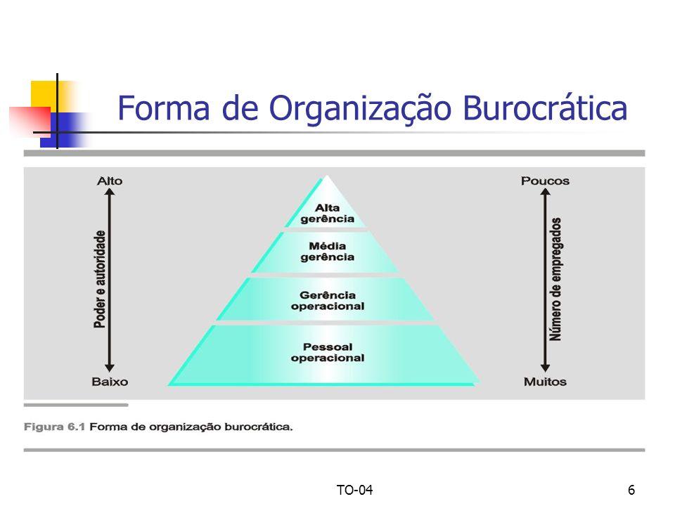 TO-046 Forma de Organização Burocrática