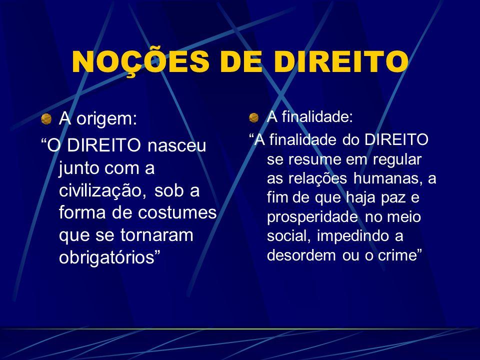CONCEITO O DIREITO é um complexo de normas reguladoras da conduta humana, com força coativa