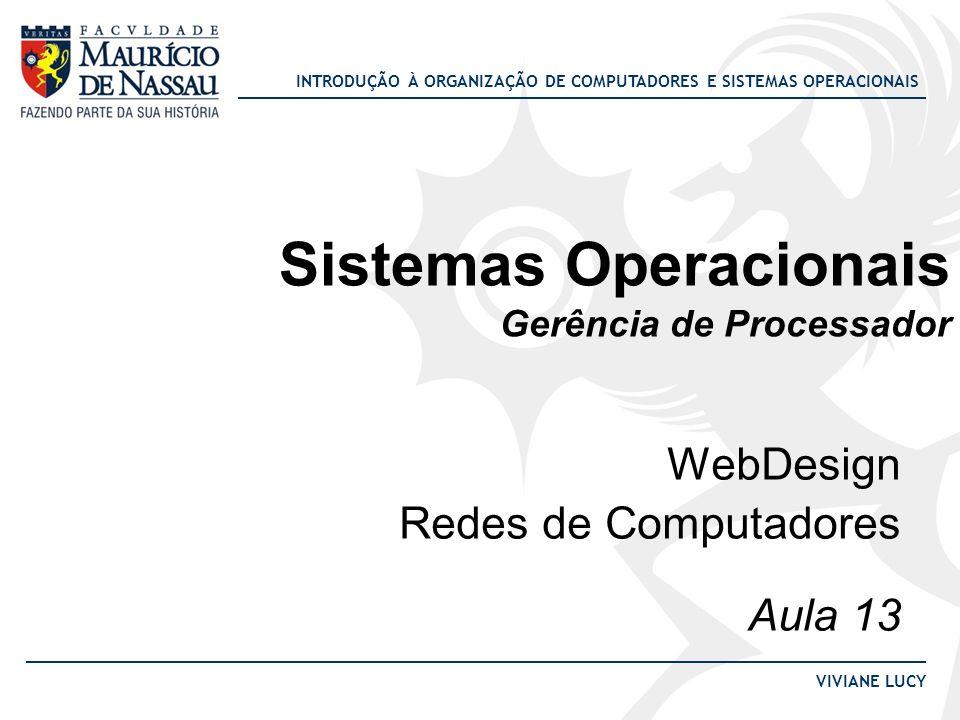 INTRODUÇÃO À ORGANIZAÇÃO DE COMPUTADORES E SISTEMAS OPERACIONAIS VIVIANE LUCY Escalonamento por prioridades Exemplo: Escalonador por prioridades com três processos: Processo A Processo B Processo C 13 17 u.t.