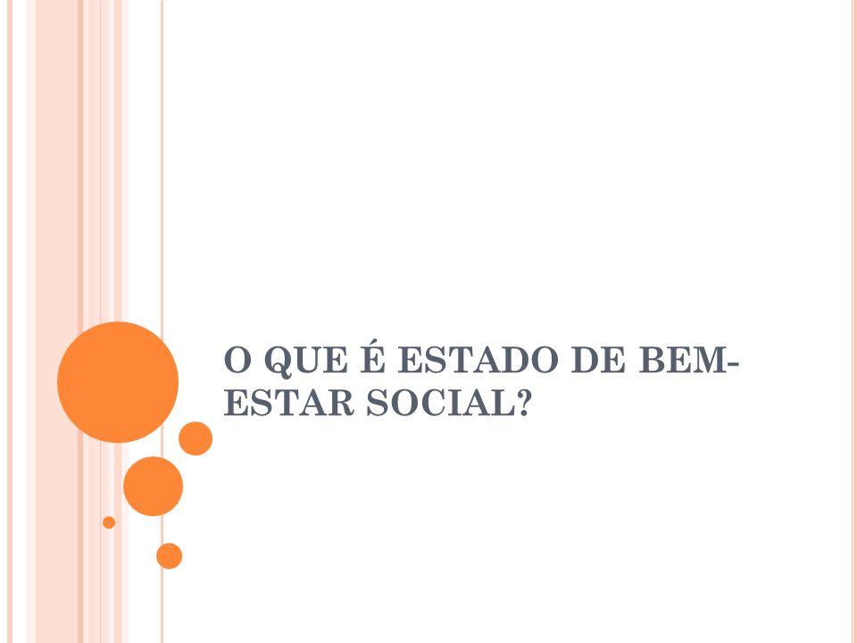 O QUE É ESTADO DE BEM- ESTAR SOCIAL?