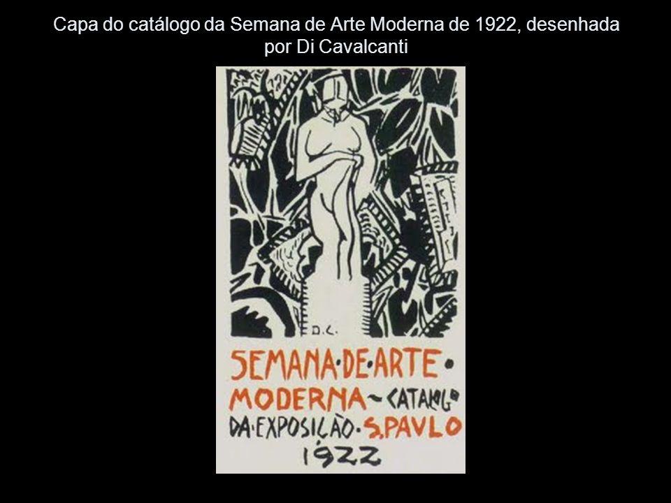 Capa do catálogo da Semana de Arte Moderna de 1922, desenhada por Di Cavalcanti