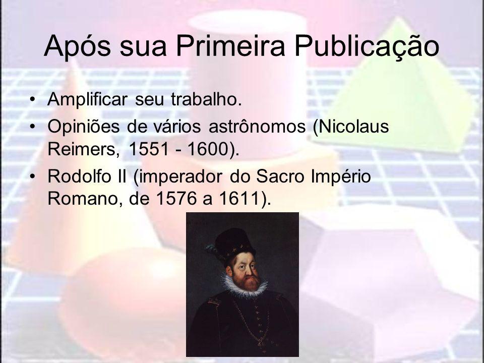 Após sua Primeira Publicação Amplificar seu trabalho. Opiniões de vários astrônomos (Nicolaus Reimers, 1551 - 1600). Rodolfo II (imperador do Sacro Im